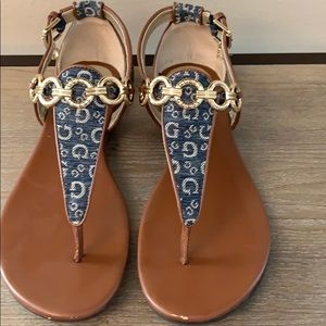 Guess sandals. Great condition. See minor …